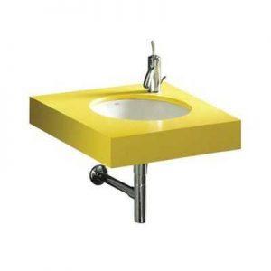 żółta umywalka